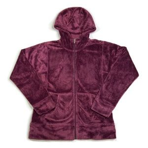Patagonia Maroon Plush Hoodie Fleece Jacket Size M